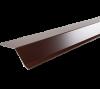 Гибка Планка карнизная 2000x100x60 мм (полиэстер) Коричневая