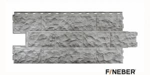 Фасадная панель FineBer сер. Доломит 1115*470 мм 0,45 м2