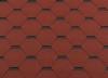 Гибкая черепица RoofShield Премиум Стандарт Красный с оттенением