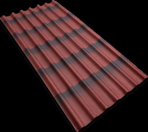 Черепица Ондулин 3D 1060х400-3мм Красный