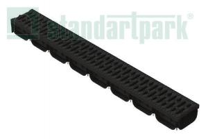 Лоток водоотводный SPARK ЛВ-10.14.07-ПП пластиковый с решеткой пластиковой